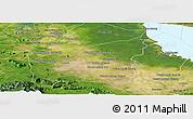 Satellite Panoramic Map of Mong Russey