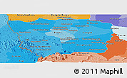 Political Shades Panoramic Map of Battambang
