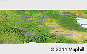 Satellite Panoramic Map of Battambang
