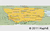 Savanna Style Panoramic Map of Battambang