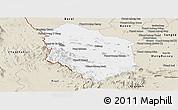 Classic Style Panoramic Map of Rattanak Mondul