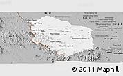 Gray Panoramic Map of Rattanak Mondul