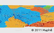 Political Panoramic Map of Rattanak Mondul