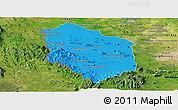 Political Panoramic Map of Rattanak Mondul, satellite outside