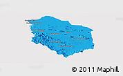 Political Panoramic Map of Rattanak Mondul, single color outside