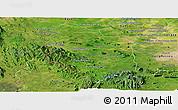 Satellite Panoramic Map of Rattanak Mondul