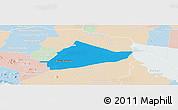 Political Panoramic Map of Sangke, lighten