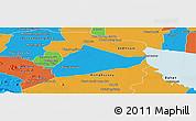 Political Panoramic Map of Sangke