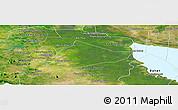 Satellite Panoramic Map of Sangke