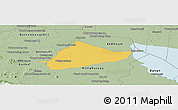 Savanna Style Panoramic Map of Sangke