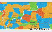Political 3D Map of Kampong Cham