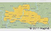 Savanna Style 3D Map of Kampong Cham