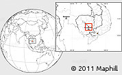Blank Location Map of Batheay