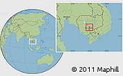Savanna Style Location Map of Batheay