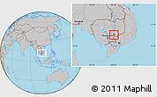 Gray Location Map of Dambe