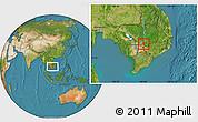 Satellite Location Map of Dambe