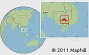 Savanna Style Location Map of Kampong Cham