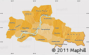 Political Shades Map of Kampong Cham, cropped outside