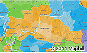 Political Shades Map of Kampong Cham