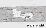 Gray Panoramic Map of Memot