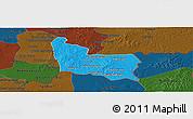 Political Panoramic Map of Memot, darken