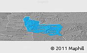 Political Panoramic Map of Memot, desaturated