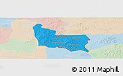 Political Panoramic Map of Memot, lighten