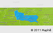 Political Panoramic Map of Memot, physical outside