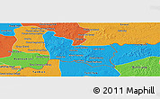 Political Panoramic Map of Memot