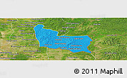 Political Panoramic Map of Memot, satellite outside