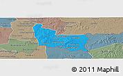 Political Panoramic Map of Memot, semi-desaturated