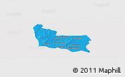 Political Panoramic Map of Memot, single color outside