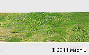 Satellite Panoramic Map of Memot