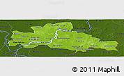 Physical Panoramic Map of Kampong Cham, darken