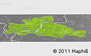 Physical Panoramic Map of Kampong Cham, desaturated