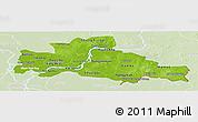 Physical Panoramic Map of Kampong Cham, lighten