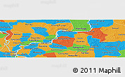 Political Panoramic Map of Kampong Cham