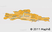 Political Shades Panoramic Map of Kampong Cham, cropped outside