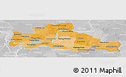 Political Shades Panoramic Map of Kampong Cham, lighten, desaturated