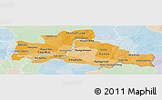 Political Shades Panoramic Map of Kampong Cham, lighten
