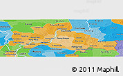 Political Shades Panoramic Map of Kampong Cham