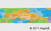 Political Shades Panoramic Map of Kampong Cham