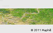 Satellite Panoramic Map of Kampong Cham
