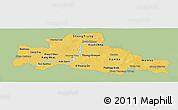 Savanna Style Panoramic Map of Kampong Cham, single color outside