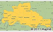 Savanna Style Simple Map of Kampong Cham