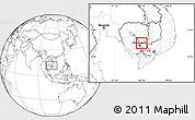 Blank Location Map of Srei Santhor