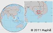 Gray Location Map of Srei Santhor