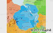 Political Shades 3D Map of Kampong Chhnang