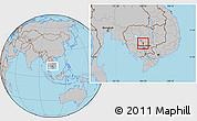 Gray Location Map of Chul Kiri