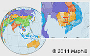 Political Location Map of Chul Kiri